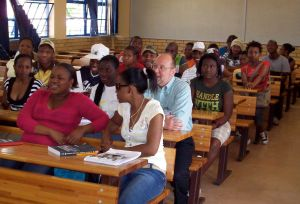 First day of classes at Pretoria campus.